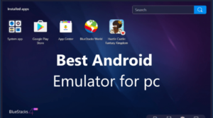 Android Emulator in the system for pc